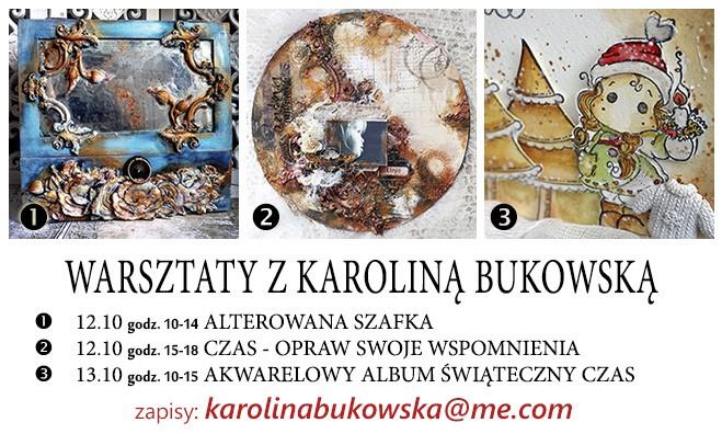 Warsztaty z Karoliną Bukowską - mixed media i scrapbooking