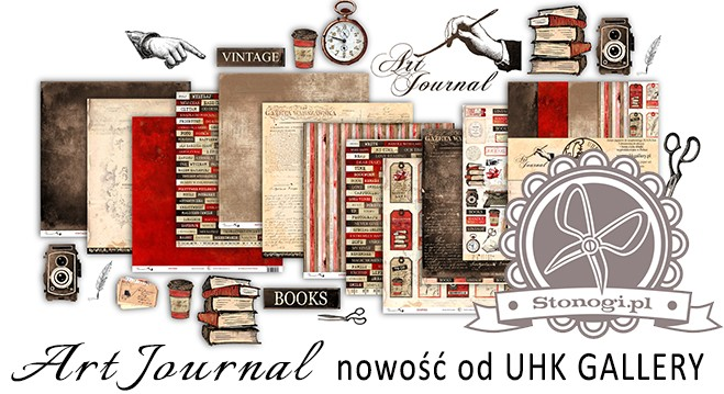 Art Journal - nowe papiery do scrapbookingu od UHK Gallery