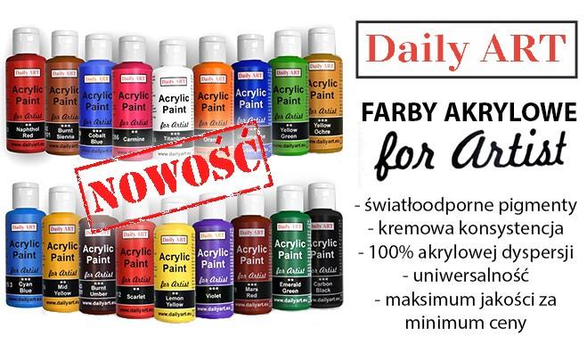 Farby karylowe dla artystów Daily ART - znakomite również do decoupage