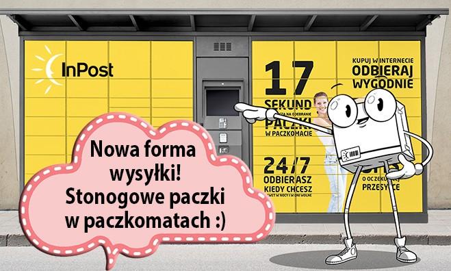 Zamówienia od Stonogi.pl znajdziecie w Waszych ulubionych paczkomatach!
